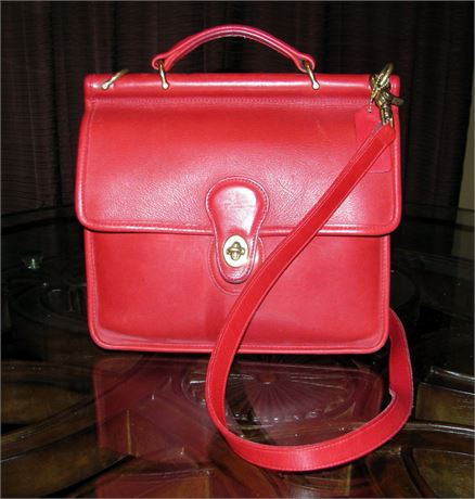beautiful red leather coach willis handbag dealzville rh dealzville com
